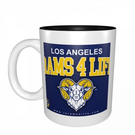 Ceramic Los Angeles Rams Mugs #387571, Tea Cup for Office and Home